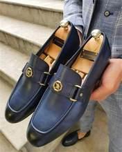 Sapatos masculinos de alta qualidade de couro do plutônio nova moda design elegante deslizamento em sapatos casuais sapatos básicos formais zapatos de hombre hg020