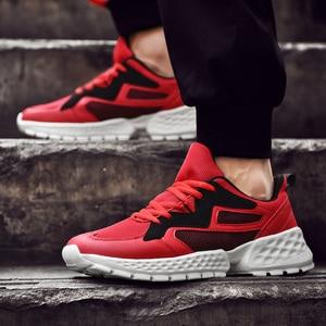 Image 4 - יוקרה גברים נעליים יומיומיות Tenis לנשימה Krasovki תחרה עד אופנה מגמת ספורט אור סניקרס זכר Chaussure Zapatillas Homme 46