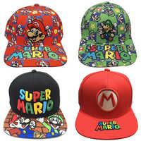Gorra de camionero de béisbol de Super Mario Bros, gorro ajustable de algodón de Hip Hop, bordado, regalo de navidad para amiga
