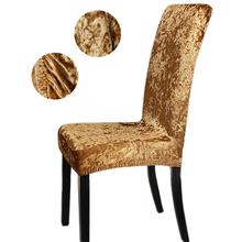 1 2 4 6 sztuk aksamitne błyszczące tkaniny tanie pokrowce na krzesła uniwersalny rozmiar Stretch pokrowce na krzesła pokrowce na siedzenia pokrowce na jadalnia tanie tanio CN (pochodzenie) CH01 Gładkie barwione Nowoczesne Plaża krzesło Hotel krzesło Ślub krzesło Bankiet krzesło Elastan poliester