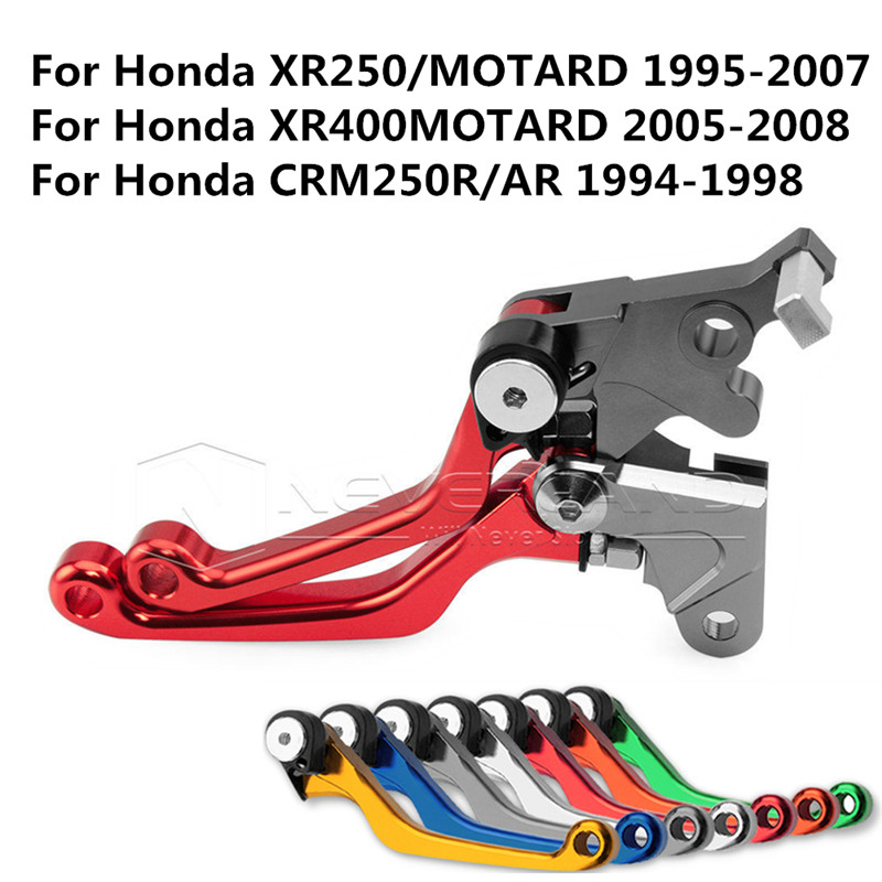 One Pair CNC Pivot Brake Clutch Levers For Honda XR250/MOTARD 95-07 XR400MOTARD 05-08 CRM250R/AR 94-98 L01K/R05K Red D10