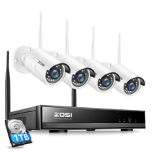 Camera NVR Video-Recorder Cctv-System Outdoor 2MP H.265 Zosi 8ch Wireless 1080P IR-CUT