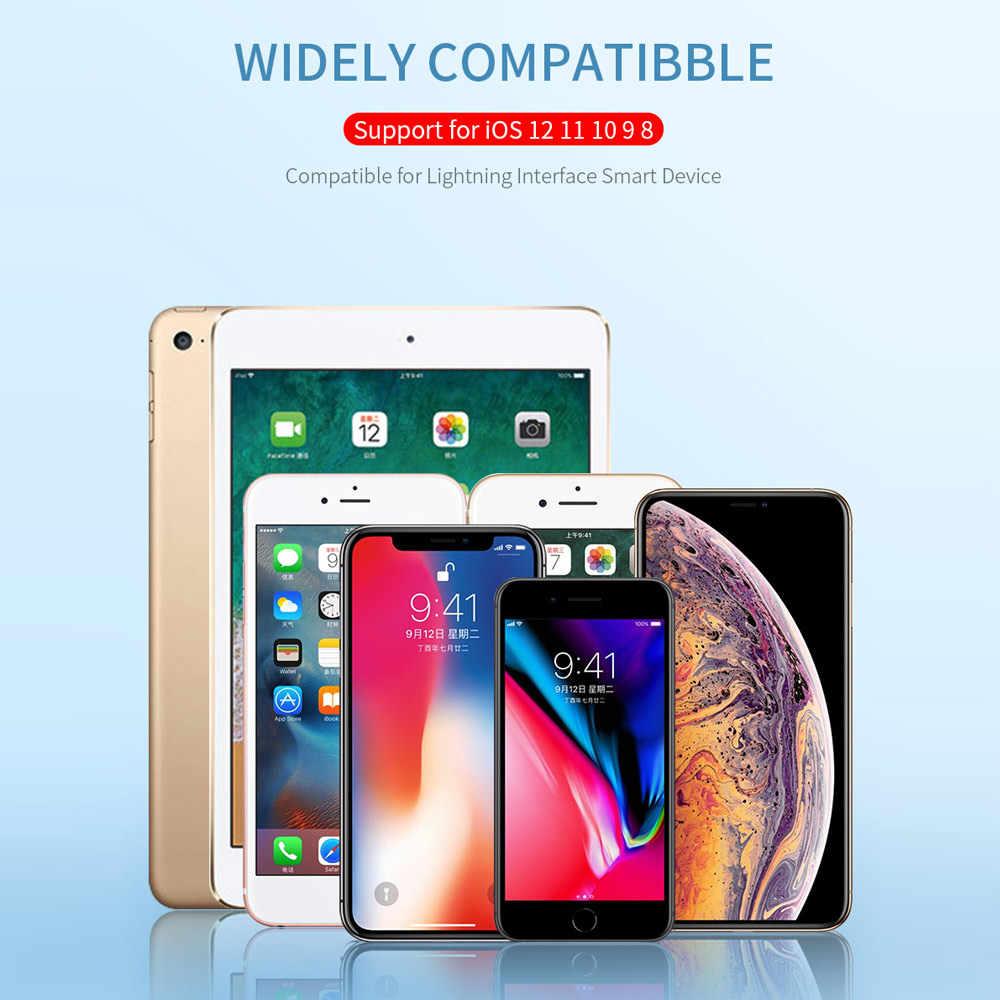 USAMS płaski kabel usb dla iPhone 6 kabel 2A lekki przewód dla iPhone X XS 8 7 6s 5S se 2m kabel do telefonu komórkowego dla iPad przewód ładowania