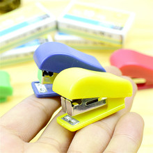 Stapler-Set Binder-Book School-Supplies Office Paper-Clip Binding Staionery Mini Cute