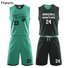 Reversible Basketball Jerseys set Double-side Uniforms Sports Clothes Jerseys Kids Customized shirts with Basketball shorts Men