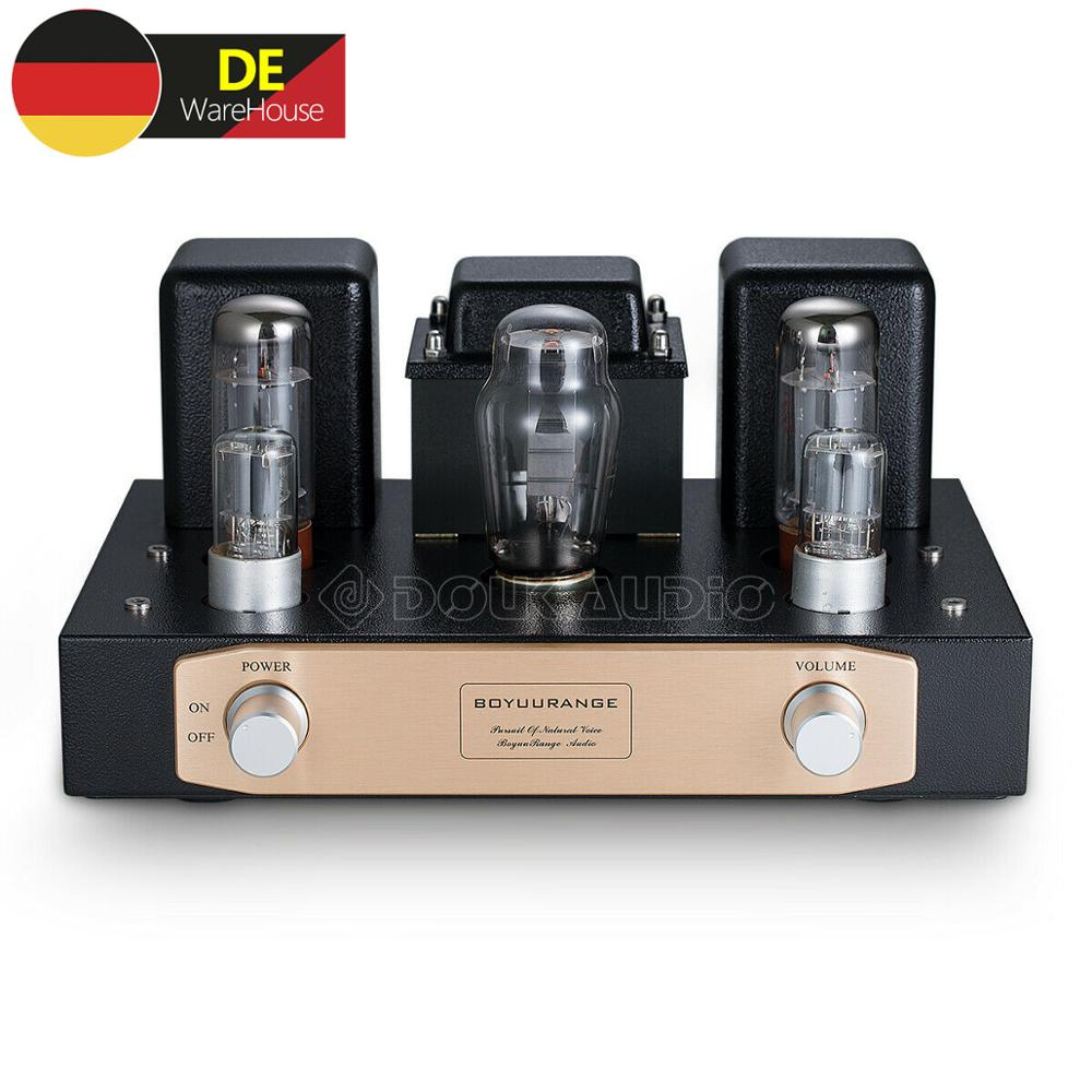 HiFi EL34 Vacuum Tube Power Amplifier Single-ended Pure Class A Stereo Amp 12W*2 image