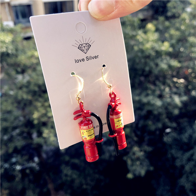 Fire Extinguisher Earrings