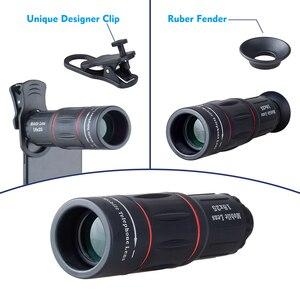 Image 4 - Apexel 18x telescópio zoom lente do telefone móvel para iphone samsung smartphones universal clipe monocular câmera lente