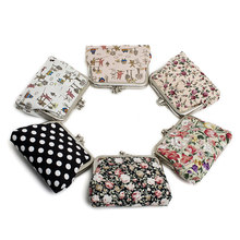New Small Canvas Purse Zip Lady Coin Purse Bag Women Lady Retro Vintage Flower Small Wallet Hasp Purse Clutch Carteira(China)