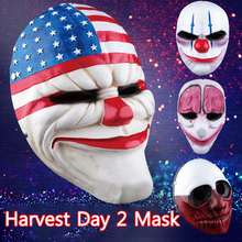 Payday2 Game Theme Horror Mask Masquerade Scary Plastic Halloween Performance Props Fashion Party Supplies