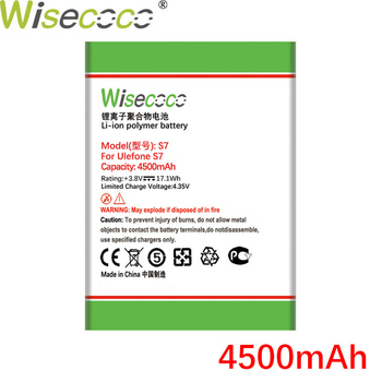 WISECOCO 4500mAh S 7 Battery For Ulefone S7 Cell Phone In Stock High Quality New Battery+Tracking Number