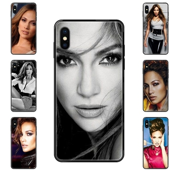Usa Pop Star Sexy Jennifer Lopez Pattern For Xiaomi Redmi Note 4 5 5A 6 7 8 8T 9 9S Pro Max Black Soft TPU Print Cover Case image