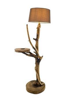 WOODBOOK Wood Book Gantry Natural Wood Floor Lamp WB-L-021-N