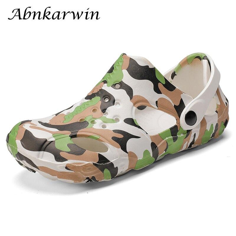 Men Summer Rubble Outdoor Slip On Beach Sandals Garden Shoes Sandal Man Sandles Sandalias Playa Hombre Homme Plus Size EVA