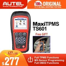 Autel maxitpms ts601 obdii ferramenta de diagnóstico obd2 scanner tpms programador código automático reaser tpms monitor ferramenta 433mhz 315mhz sensor
