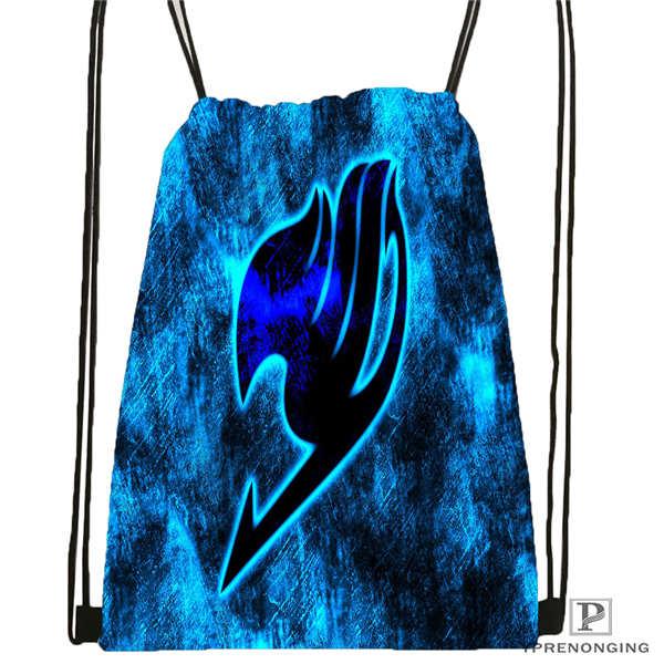 Custom Drawstring Backpack Drawstring Backpack Bag Cute Daypack Kids Satchel (Black Back) 31x40cm#180611-01-03