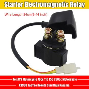 Starter Relay Solenoid For Chinese GY6 70cc 110cc 150cc 250cc Scooter ATV Karts Starting Electromagnetic Relay For Motorcycles 24 vac relay for henny penny hen60818