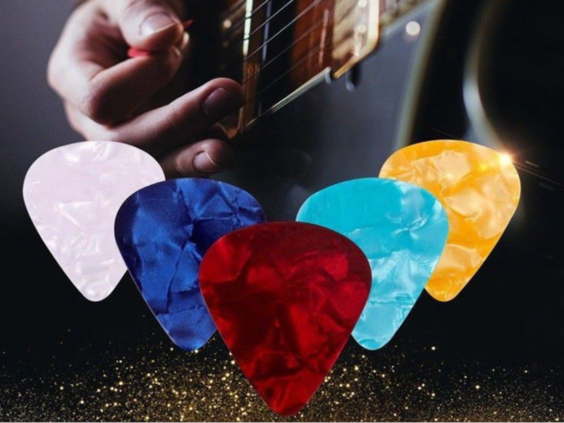 New10 Pcs Guitar Pick Accessories 0.46mm 0.71mm 0.96mm Color Random Hot Sale Acoustic Picks Plectrum Celluloid Electric Smooth