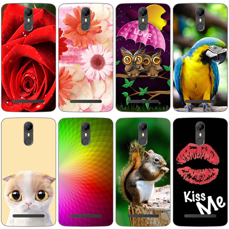 Painted Case For <font><b>Homtom</b></font> HT27 Case Silicone Soft TPU For <font><b>Homtom</b></font> <font><b>HT</b></font> <font><b>27</b></font> Cover Coque Cat Owl Animal Flower Plants Butterfly Bags image