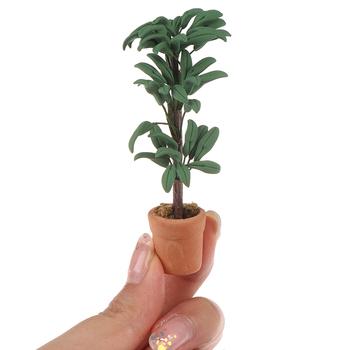 Hot! DIY roślina doniczkowa doniczka zielona liść roślina 1 12 domek dla lalek miniaturowa dekoracja ogrodowa domek dla lalek kolekcja zabawek dla dzieci tanie i dobre opinie SHPYHT 2-4 lat 5-7 lat 8-11 lat 12-15 lat Dorośli CN (pochodzenie) Ceramiki Keep away from fire Dollhouse plant Unisex
