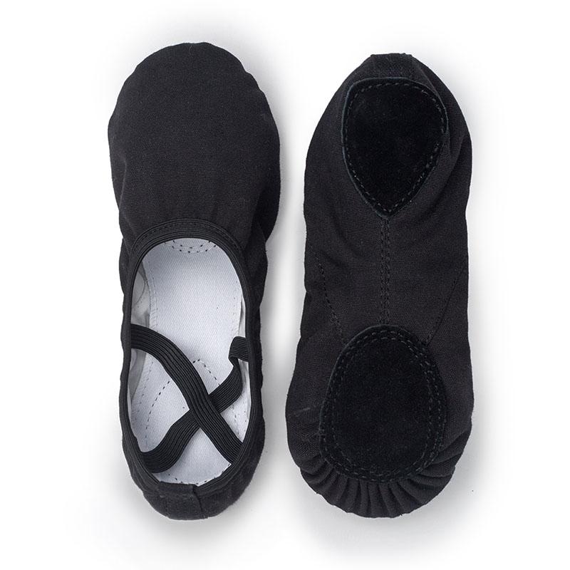 USHINE white quality full rubber band exercise shoes yoga slippers gym kids ballet dance shoes girls woman children ballerina
