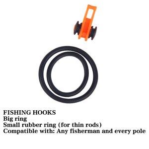 Image 4 - 10 pz/set Multicolore di Plastica Gancio di Pesca Keeper Canna Canna Da Pesca Esche Esca Supporto di Sicurezza Attrezzatura Da Pesca Accessori