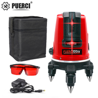 PUERCI 5 Lines 6 Points Laser Level Automatic Self Leveling 360 Vertical&Horizontal Tilt Degrees Rotary Indoor/Outdoor Mode