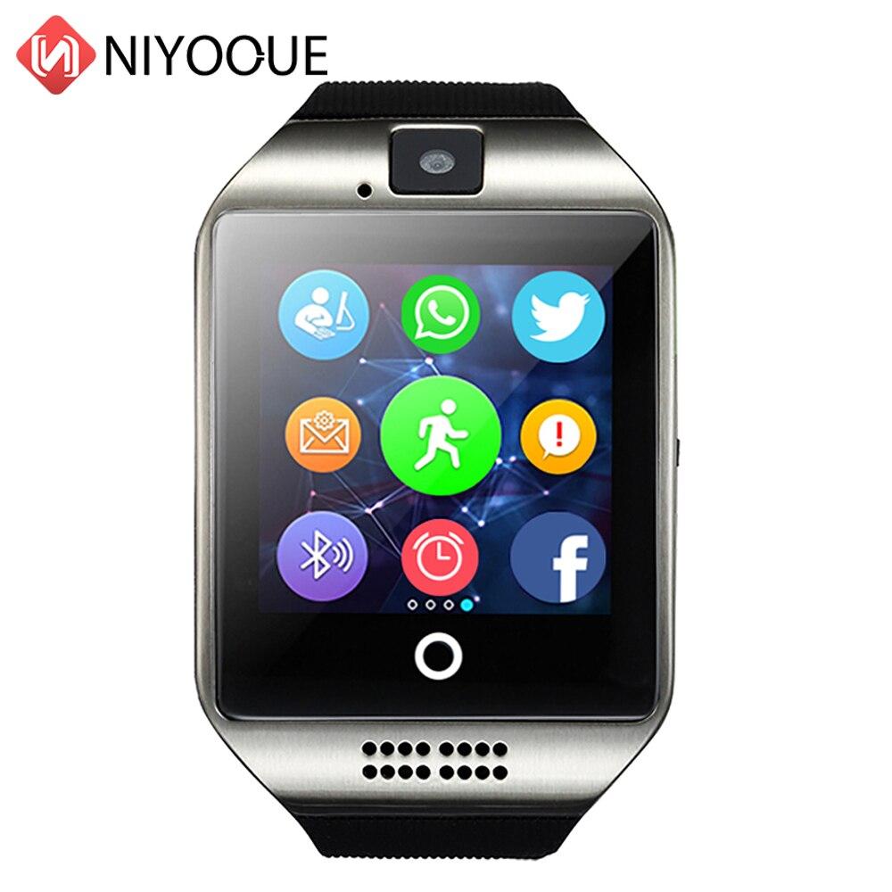 Montre intelligente téléphone Q18 Support carte Sim Smartwatch téléphone caméra pour IOS Android porter Wach pour hommes PK DZ09 GT08 Q18