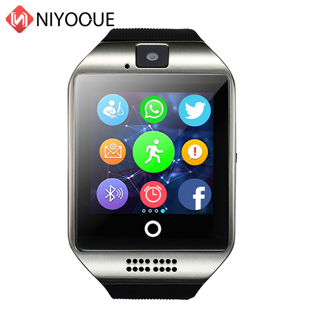Smart Watch Phone Q18 Support Sim Card Smartwatch Phone Camera for IOS Android Wear Wach for Men PK DZ09 GT08 Q18