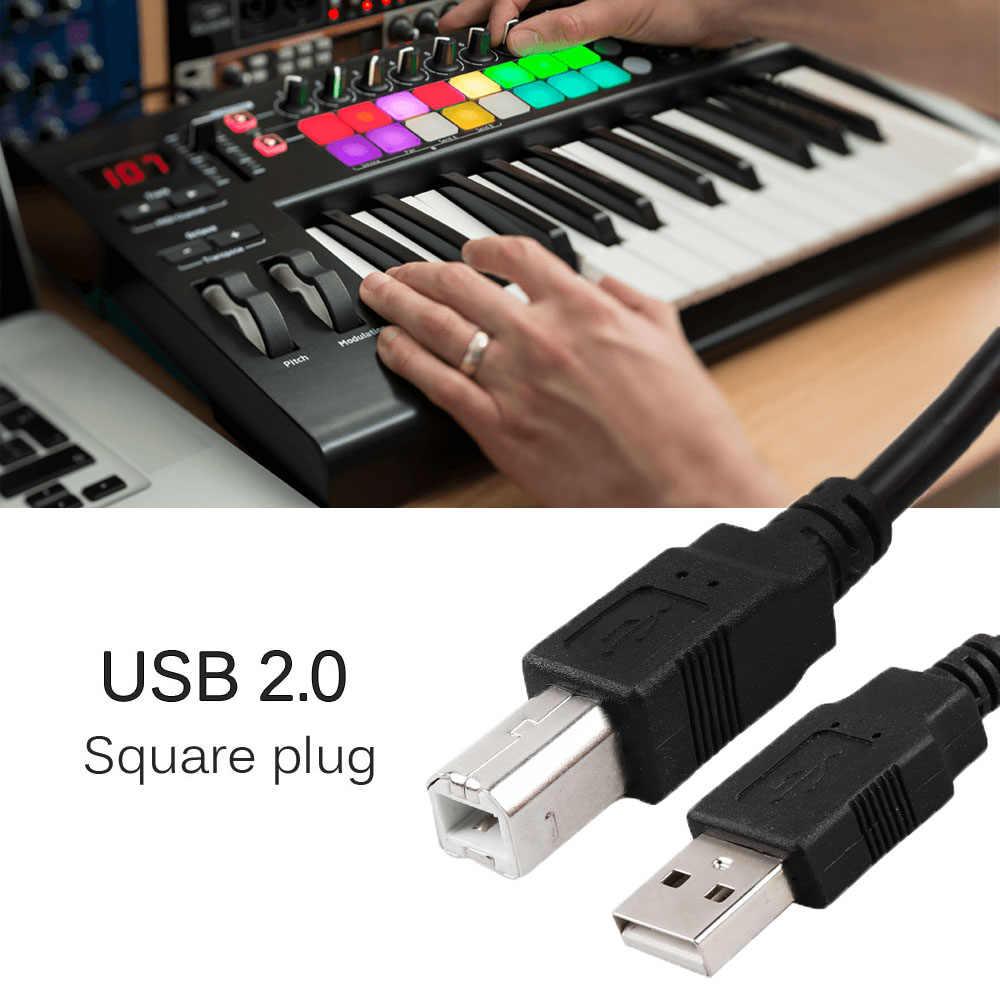 שחור מוסיקה מקלדת מחברים USB 2.0 כבל כסף מצופה עבור Novation LaunchKey 61 49 25 מפתח מקלדת קומפקטי MIDI בקר