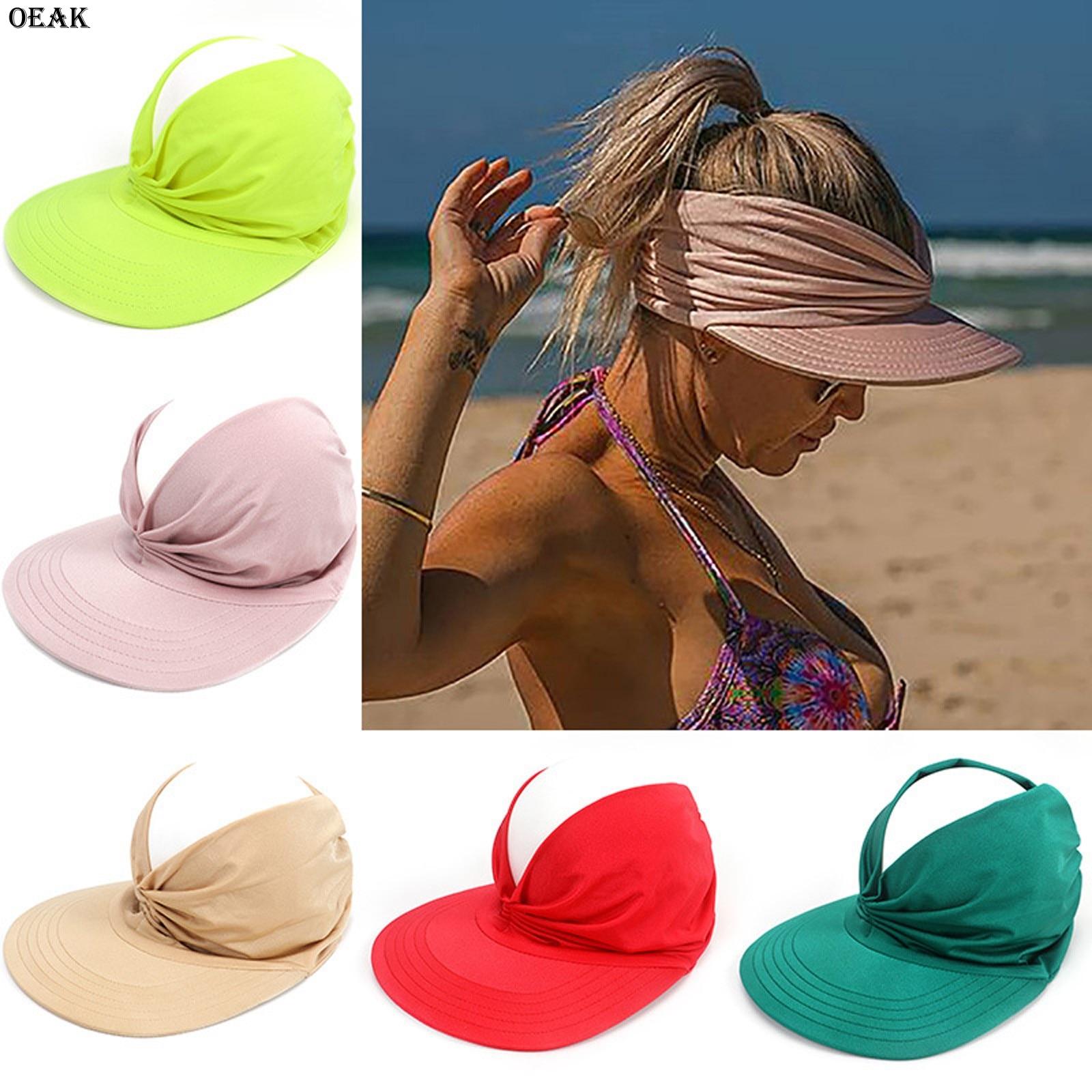OEAK New Arrival Summer Hat Women's Sun Visor Sun Hat Anti-ultraviolet Elastic Hollow Top Hat New Casual Caps Gorras