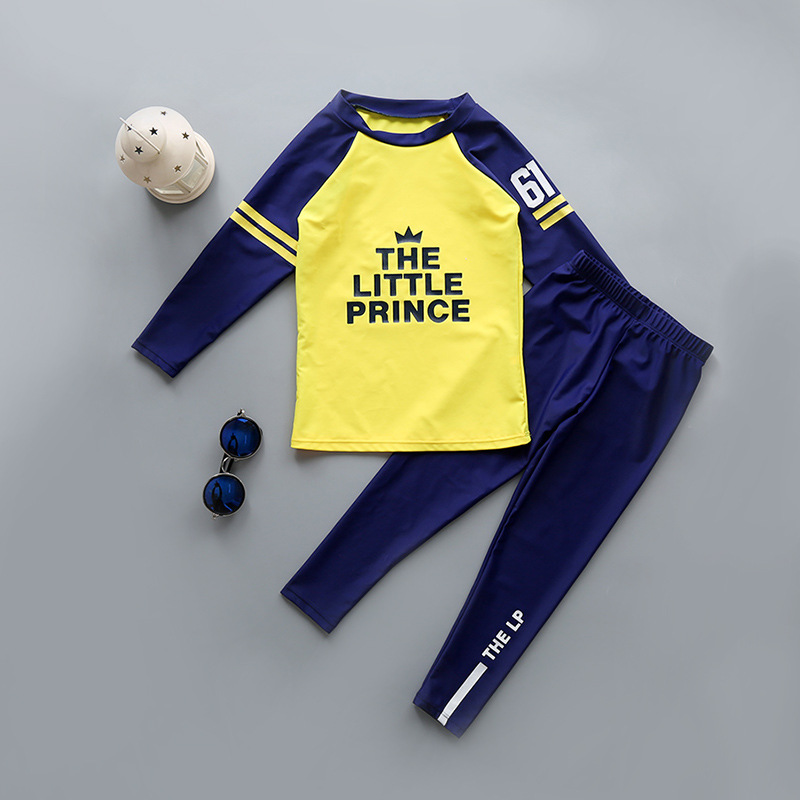 KID'S Swimwear GIRL'S And BOY'S Split Type Middle And Large Children Infant Kids Long Sleeve Pants Sun-resistant Baby Diving Sui