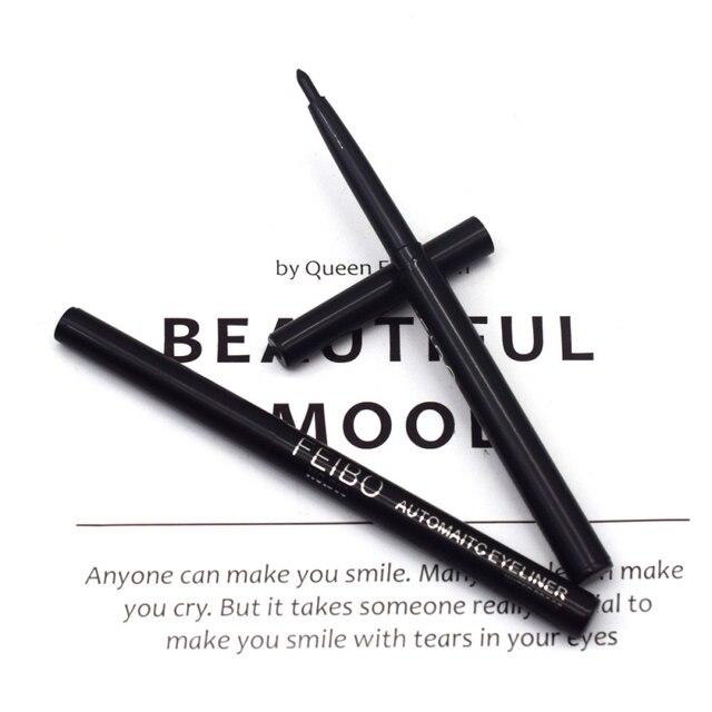 1Pcs Black Liquid Eyeliner Quick-drying Waterproof Long-lasting Eye Liner Not Blooming Eye Pencil Makeup Comestic Tool TSLM1 3
