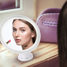 Easehold Rechargeable Makeup Mirror 10 Magnifying 360 Degree rotation Bathroom Mirror with Locking Suction LED Mirror 24 Lights