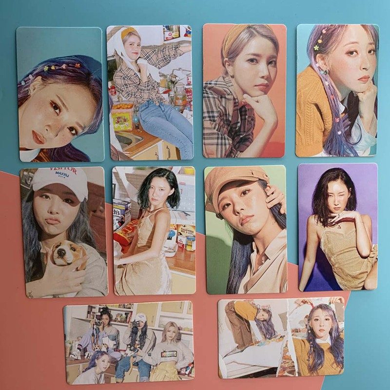10Pcs/Set Mamamoo 2020 Seasons Greetings Paper Lomo Card Photo Card Poster Photocard Fans Gift Collection
