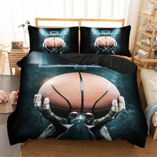 3D Printed Duvet Cover Set Basketball Game Queen King Bedding Set Twin Single Double Size Bed Linen Kid Teen Boys Home Bed 3pcs polka dot nordic bed linen set queen double single size children duvet cover set