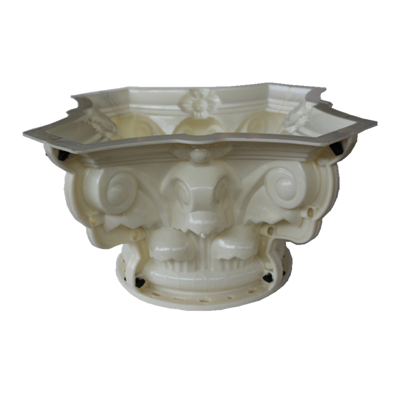 20cm  7 87in  Pillar Diameter ABS Multi Pattern Durable Round Concrete Pedestal Column Mold with Beak  Leaves  Plain Embossing
