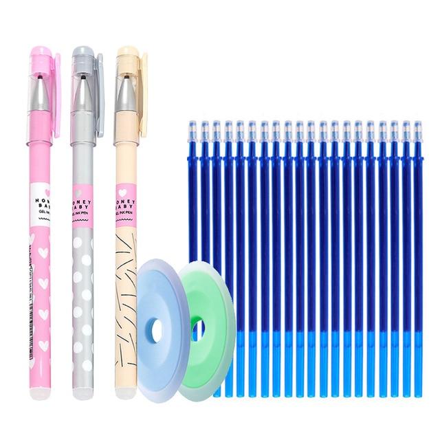 25 pcs/lot Animals Erasable Pen Refills Rod Magic Erasable Gel Pen Washable Handle for School Office Writing Supplies Stationery