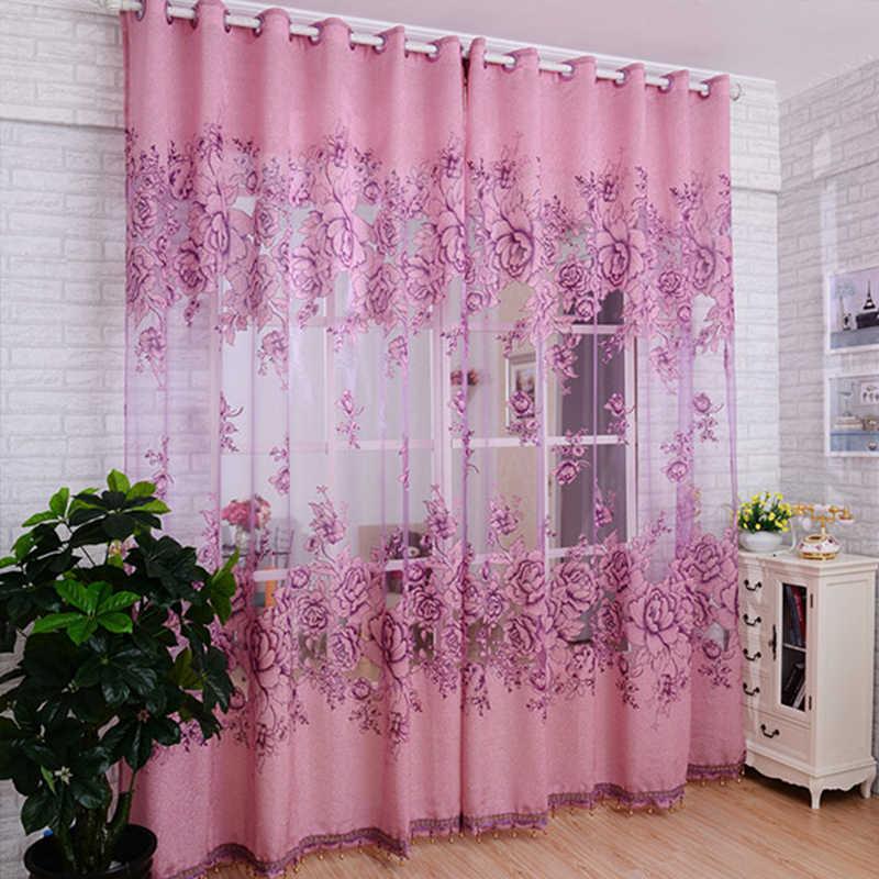 Top Finel di lusso jacquard ombra di tulle per la finestra tende trasparenti per soggiorno cucina camera da letto camera tende finestre trattamenti tessuto