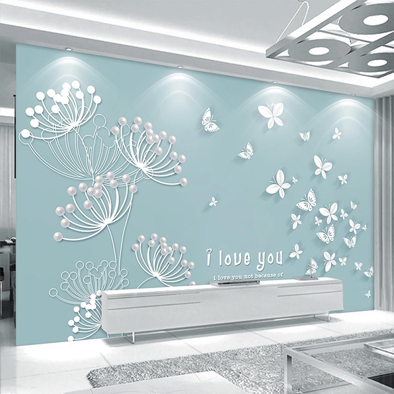 Custom Mural Wallpaper Modern Simple Dandelion Butterfly Wall Painting Living Room Tv Sofa Bedroom Home Decor Papel De Parede 3d Wallpapers Aliexpress