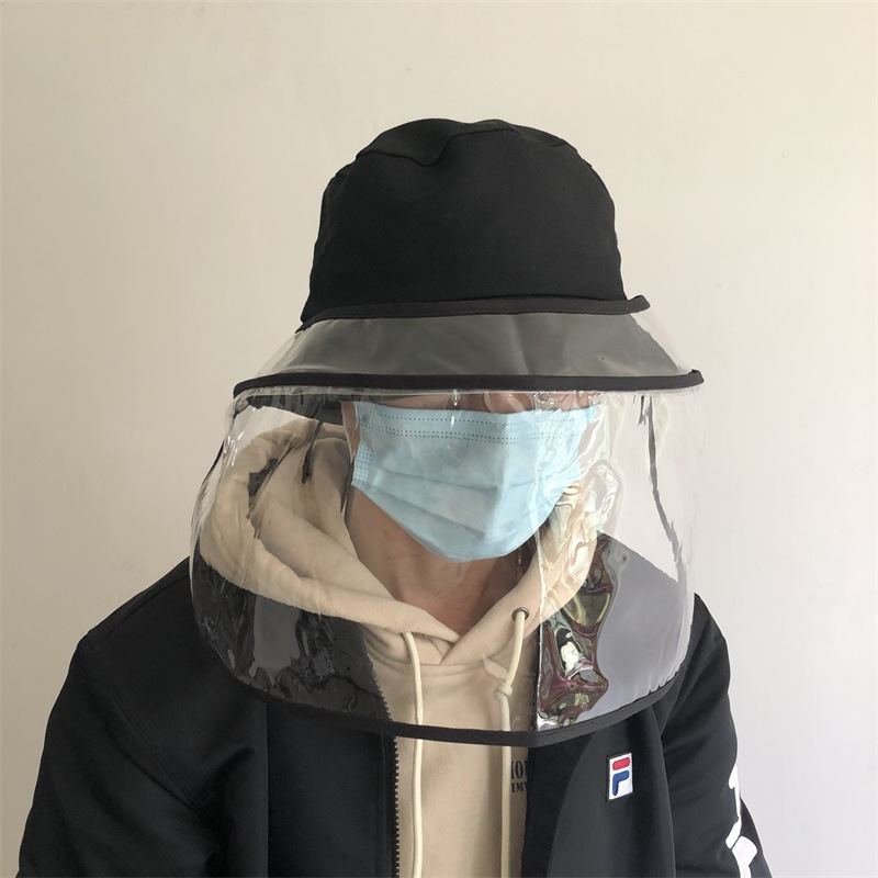 Unisex Safety Anti Dust Mask Cover Hat Anti Flue Spittle Anti Dust Cover Full Face Eyes Protection Cap Mask Removable