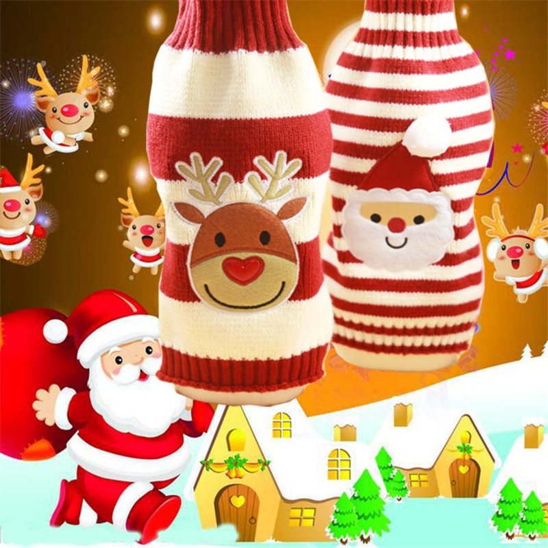 Dog Christmas Sweater Clothes for Dogs Winter Woolen Yarn with Elasticity and Great Warmth Autumn Winter Clothes for Cat Dog