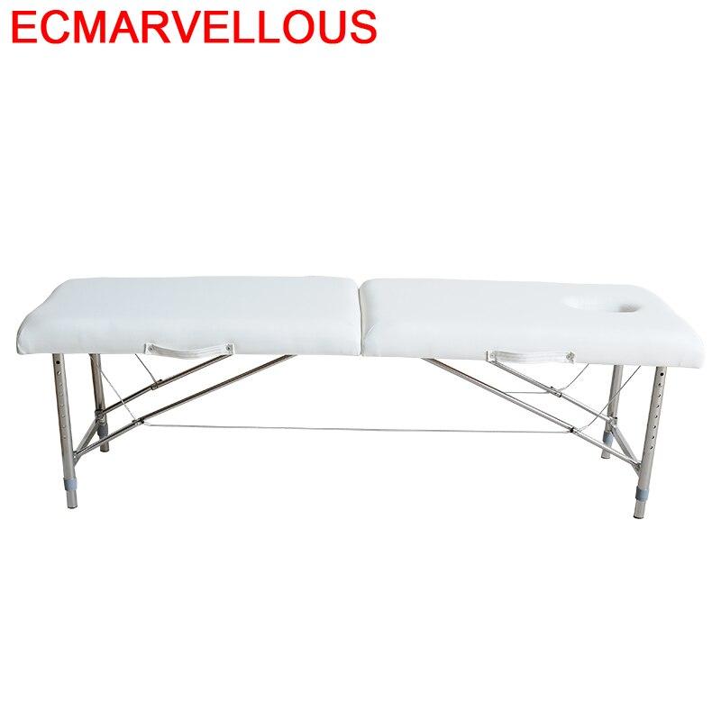 Para Foldable Silla Masajeadora Tattoo Beauty Salon Furniture Pedicure Camilla Masaje Plegable Chair Folding Table Massage Bed