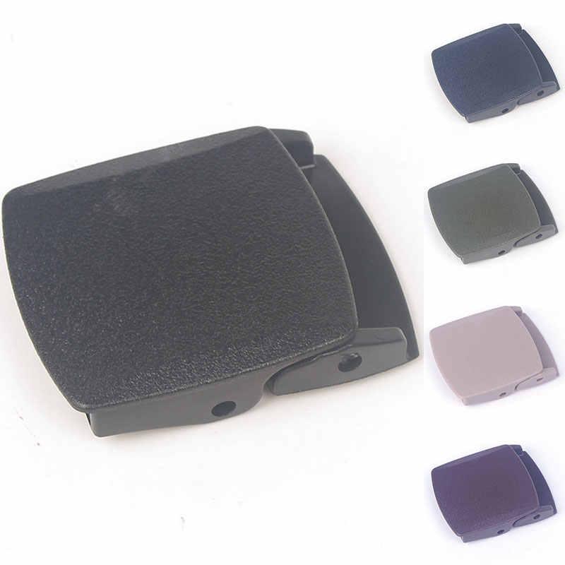 38mm plastik kemer tokası erkek tuval Cosplay askeri ayarlanabilir bağlı dokuma kadın DIY aksesuarları 2019 yüksek kalite siyah
