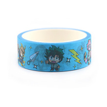 2pcs/lot My Hero Academia Manual Washi Tape Paper Album Notebook Adhesive Color Tear Decoration Stationery Stickers AT2749