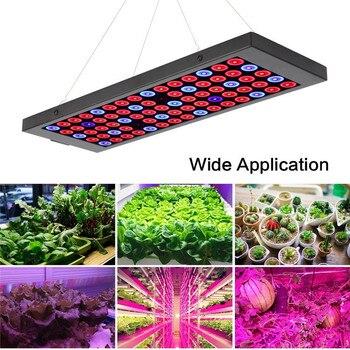 AMKOY Full Spectrum 40W LED Grow Light 85-265V UV IR lamps Panel Plant Grow Light 75 144leds For Greenhouse Indoor Plants недорого