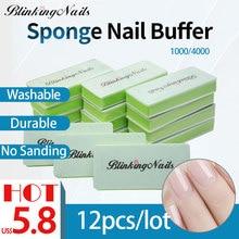 BlinkingNails 12pcs Nail Buffer Shine Nail Block Buffer Polishing Block Buffers of Nail Sponge for Nails Polisher  Double-side