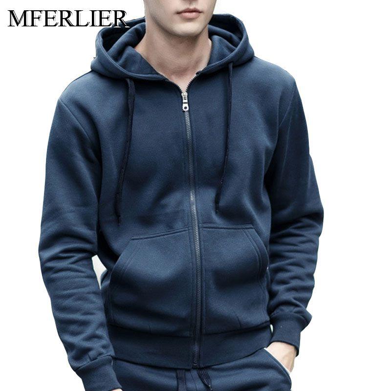 men hoodies 5XL 6XL 7XL 8XL Autumn winter bust 144cm Plus size fleece sweatshirt men