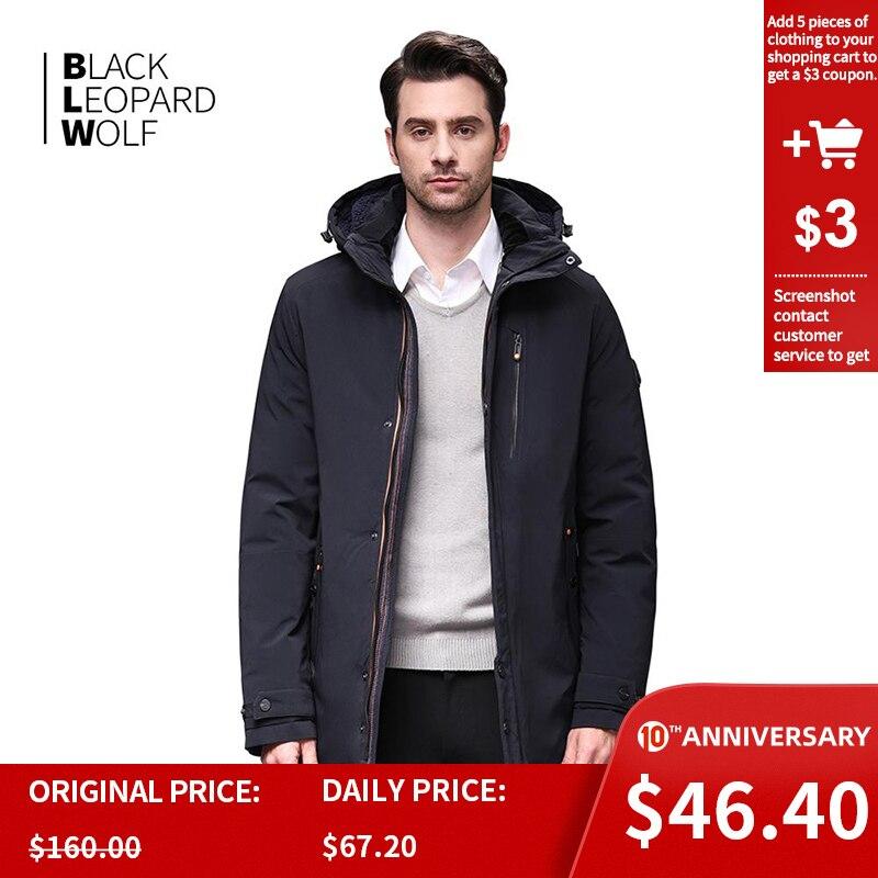 Blackleopardwolf 2019 New Arrival Winter Jacket Men's Coat Thik Parka Alaska Windproof Detachable Outwear Luxury Outwear BL-1002