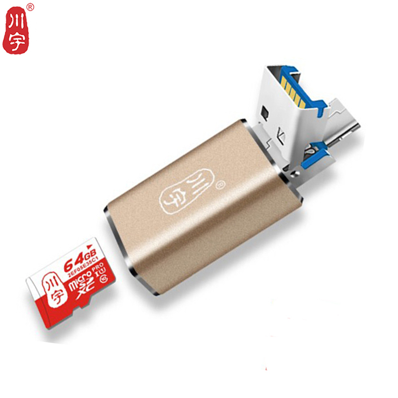 Kawau USB 3.0 Microsd Card Reader Supports Up To 256GB With  SD MS  Slot Card Reader C326 High Quality Speed For Mobile Phone